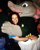 An elephant hug from Stomper